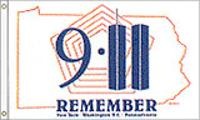 911 REMEMBER NY, DC, PA FLAG 3X5 FT. $29
