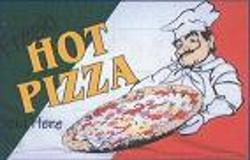 FRESH HOT PIZZA SOLD HERE BANNER FLAG